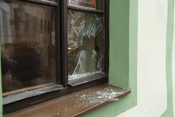 A2B Glass are able to board up broken windows while they are being repaired in Bexley.